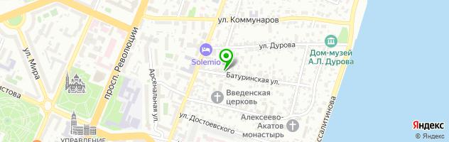 Оптово-розничная компания Венки — схема проезда на карте