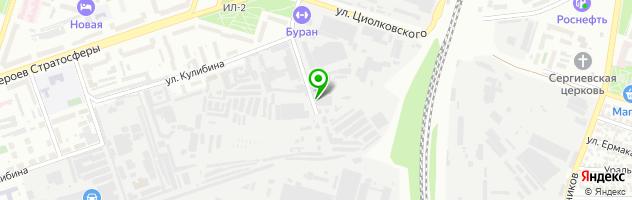 Студия автозвука Бассмакс — схема проезда на карте