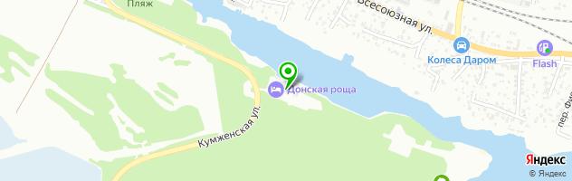 Ресторан Донская роща — схема проезда на карте