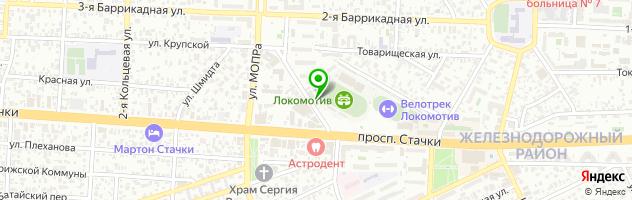 Кафе Серебро — схема проезда на карте