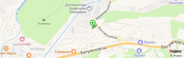 Автосервис Уч-Дере — схема проезда на карте