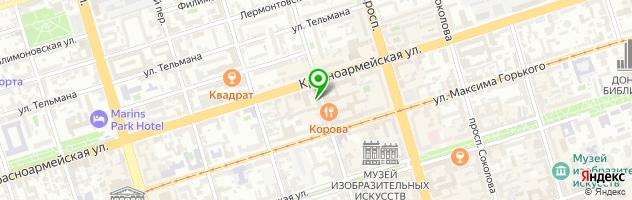 Ресторан Ош Пош — схема проезда на карте