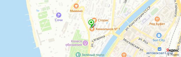 Скульптурный лифтинг лица Сочи — схема проезда на карте