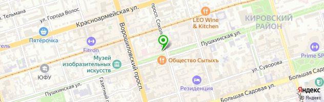 Subway — схема проезда на карте
