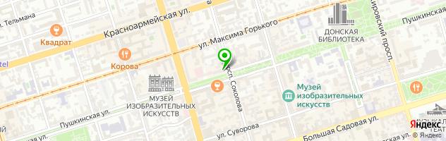 Медицинский центр Ситилаб-Дон — схема проезда на карте