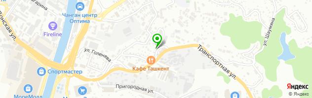 СТО на ул. Голенева 19/1 — схема проезда на карте