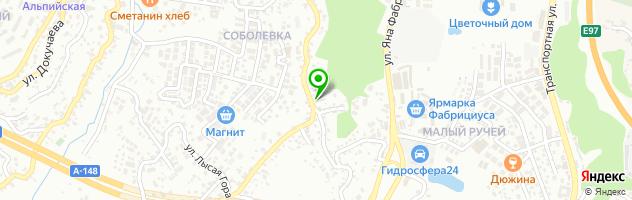 Банька — схема проезда на карте