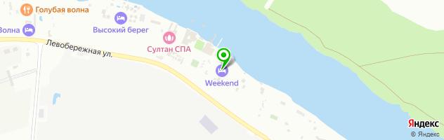 Загородный клуб Weekend — схема проезда на карте