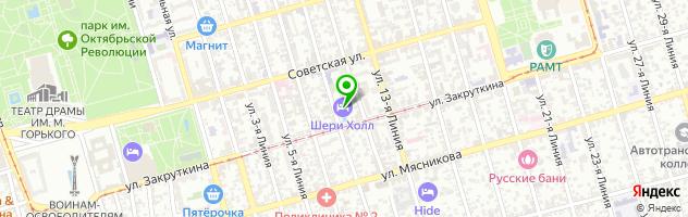 Ресторан Шери Холл — схема проезда на карте