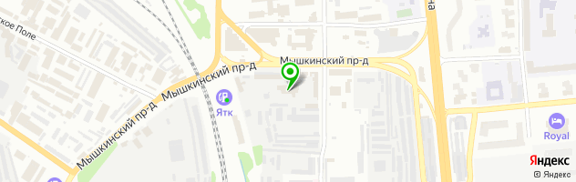 Сто Центральная — схема проезда на карте