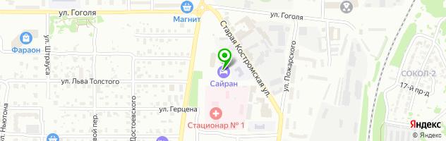 Гостиничный комплекс Сайран — схема проезда на карте
