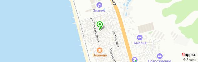 Комплекс отдыха Экодом — схема проезда на карте