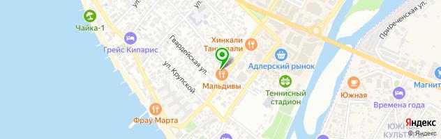 Кафе Встреча — схема проезда на карте