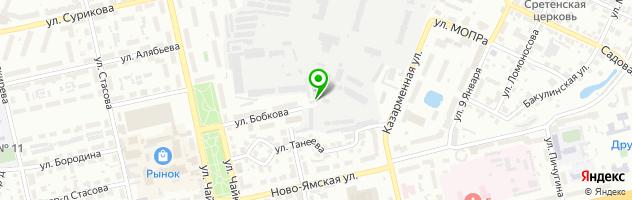 Шиномонтаж у Рябинки — схема проезда на карте