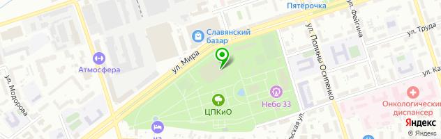 Кафе Полярис — схема проезда на карте