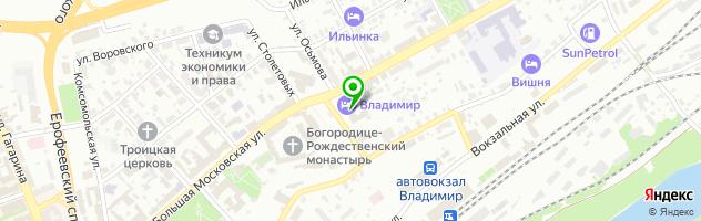 """Ресторан """"Владимир"""" — схема проезда на карте"""