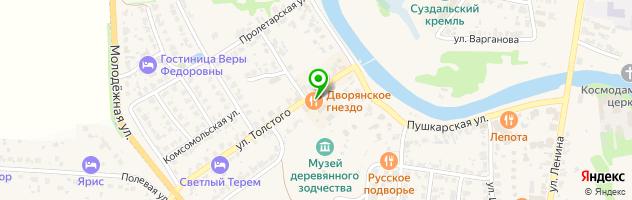 Ресторан ТРАПЕЗНАЯ — схема проезда на карте