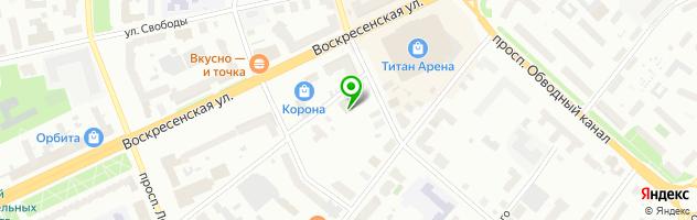 Стоматологическая клиника Парадиз Денталь — схема проезда на карте