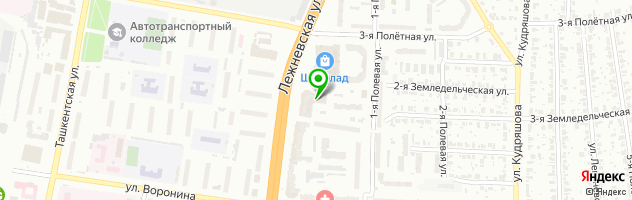 SPA-центр Хюгге — схема проезда на карте