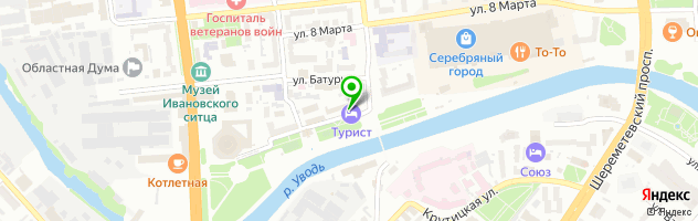 "Ресторан в ГК ""Турист"" — схема проезда на карте"