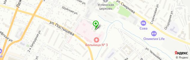 Автокомплекс АсанАвто — схема проезда на карте
