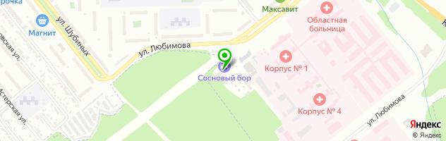 Ресторан Сосновый бор — схема проезда на карте