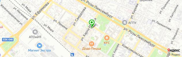 Фотоцентр ЮФО`принт — схема проезда на карте