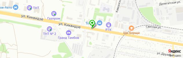 Эвакуатор Тамбов и РФ — схема проезда на карте