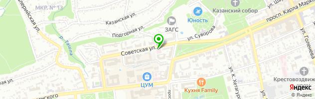 Ставропольская хозрасчетная поликлиника МУП — схема проезда на карте