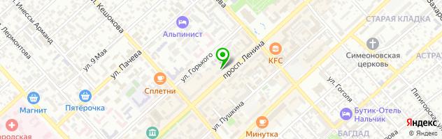 Натяжные потолки ЭВИТА Нальчик — схема проезда на карте