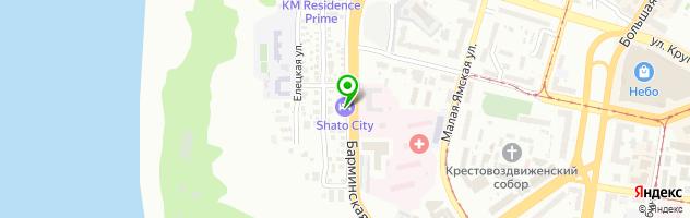 Ресторан SHATO — схема проезда на карте