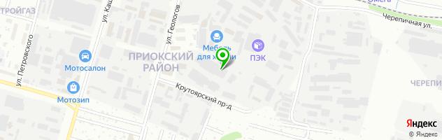 """Столовая """"НаОбед"""" — схема проезда на карте"""