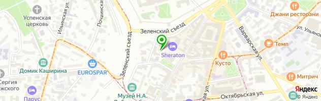 Кафе ТЕАТРАЛЬНАЯ ПЛОЩАДЬ — схема проезда на карте