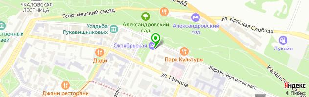 Ресторан Премьер гостиница Октябрьская — схема проезда на карте