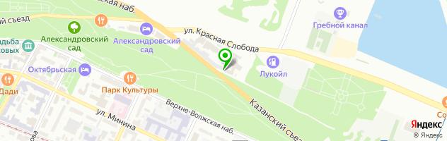 Кафе Абрикос — схема проезда на карте