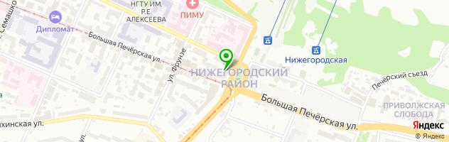 Yoga Practika Нижний Новгород — схема проезда на карте
