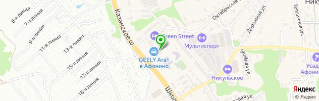 Автосалон Infiniti АГАТ-Премиум — схема проезда на карте