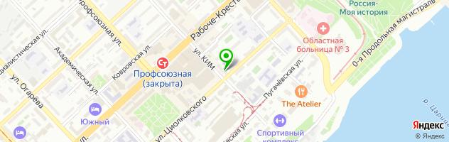 Кафе Мин Херц — схема проезда на карте
