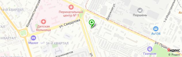 Торгово-сервисная компания Неос — схема проезда на карте