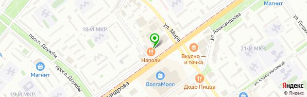 Траттория NAPOLI — схема проезда на карте