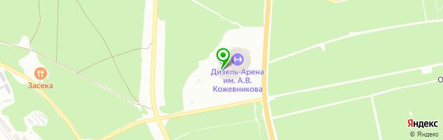Кафе Арена — схема проезда на карте