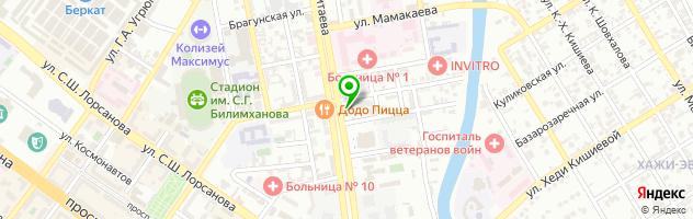Анекс тур — схема проезда на карте