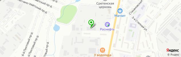 Станция обслуживания грузовых автомобилей и автобусов STO-64 — схема проезда на карте