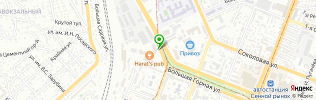 Кафе Мегаполис — схема проезда на карте