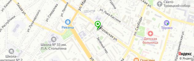 Кафе-бар BAR B QUE HARLEY DAVIDSON — схема проезда на карте