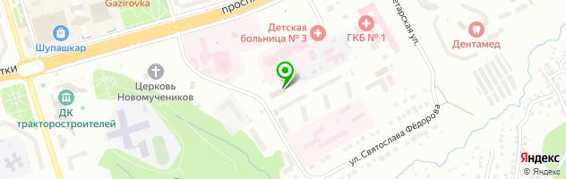 Химчистка-прачечная Волга-люкс — схема проезда на карте