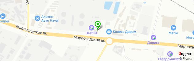 Автоцентр Н-Авто — схема проезда на карте