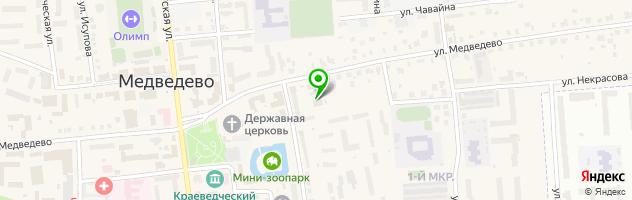 Кафе Космос — схема проезда на карте