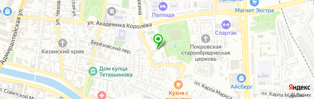 Гинекологическая клиника доктора Бурова — схема проезда на карте