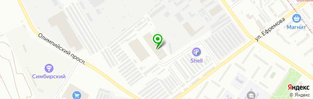 Автошкола DRIVE — схема проезда на карте